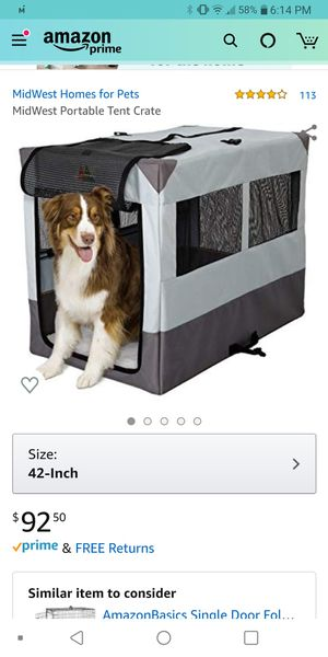42 inch dog crate for Sale in Groesbeck, OH