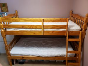 Twin bunk bed with mattresses for Sale in Vancouver, WA