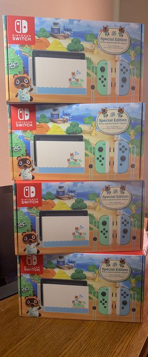 BRAND NEW UNOPENED V2 Nintendo Switch Console Animal Crossing Special Edition!!! for Sale in Upland, CA