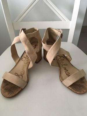 Sam Edelman cross strap heels, size 8.5 for Sale in Miami, FL