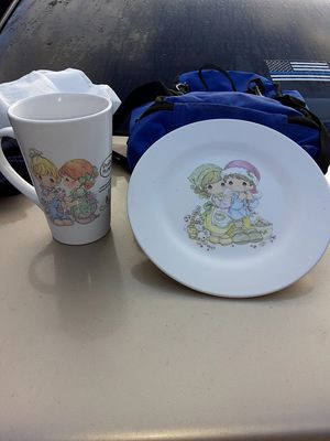 Official Precious Moments plate and cup for Sale in Pasadena, TX