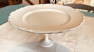 "Round 13"" White Cake Stand for Sale in Bluffdale, UT"