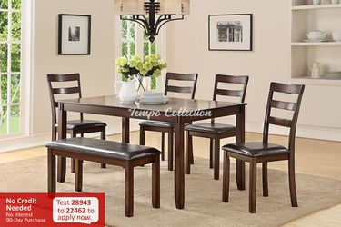 New 6pc Dining Set , Brown, SKU# PDXF2547TC for Sale in Santa Fe Springs,  CA