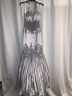 Halter Top Mermaid Tail Style Silver Dress for Sale in Sully Station, VA