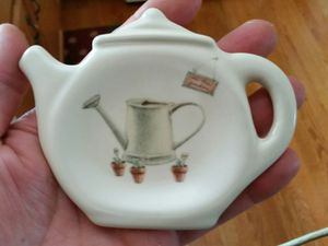 Pfaltzgraff Tea Bag holder watering can pattern for Sale in Easton, PA