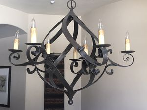 """Currey and Company nine light bronze chandelier. 37"""" wide by 33"""" H for Sale in Castle Rock, CO"""