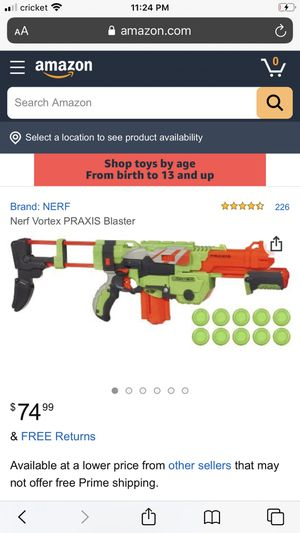 Nerf disc shooter for Sale in Everett, WA