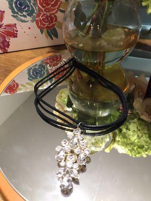 Pretty! Fun ! Diamond Crystal Stone Necklace for Sale in Gainesville, VA