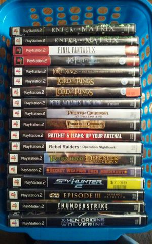 PS2 Adventure Style Games - $5 Each for Sale in Aumsville, OR
