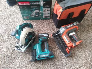 Tools a saw and two finish nail guns brand new for Sale in Salt Lake City, UT