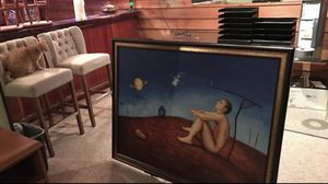Salvador Dali huge painting in a beautiful frame for Sale in Springfield, VA
