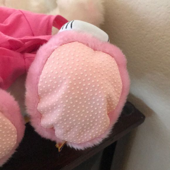 Build A Bear Plush Teddy Animal in Pink and White