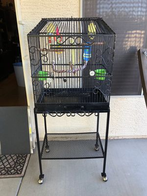 Bird Cage On Wheels With Toys Included!!Excellent Shape!!OBO for Sale in Las Vegas, NV
