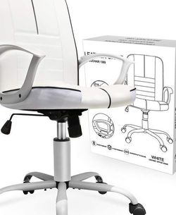 Office Swivel Executive Bonded Leather Computer Chair White for Sale in Los Angeles,  CA