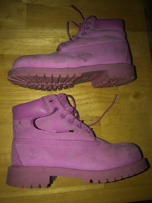 Timberland Pink Boots Girls Size 4 for Sale in McDonough, GA