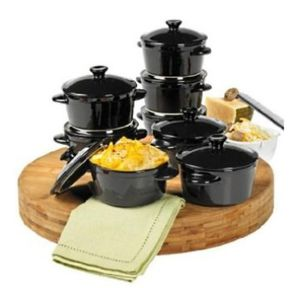 New Set of 8 Black 10 oz Stoneware Cocottes Denmark Tools for Cooks for Sale in Plainfield, IL