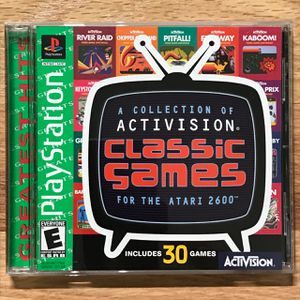 A Collection of Activision Classic Games for the Atari 2600 PS1 Video Game for Sale in Pahrump, NV