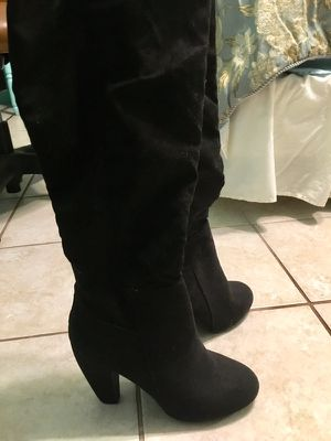 Black Thigh High Boots with heel for Sale in Tarpon Springs, FL
