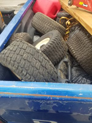 Riding lawn mower tires 50 bucks and they are all yours for Sale in Chehalis, WA