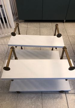 Two gold and white hand painted wall shelves for Sale in Malden,  MA