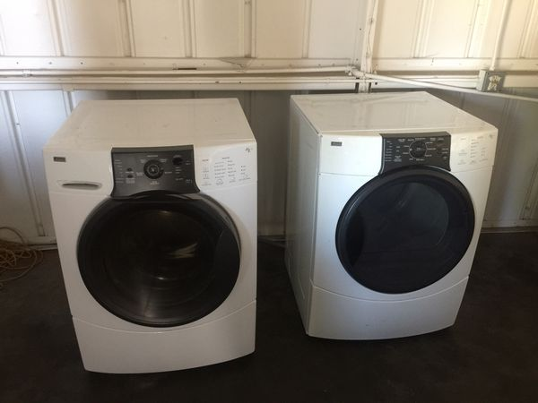 Kenmore washer and gas dryer stackable
