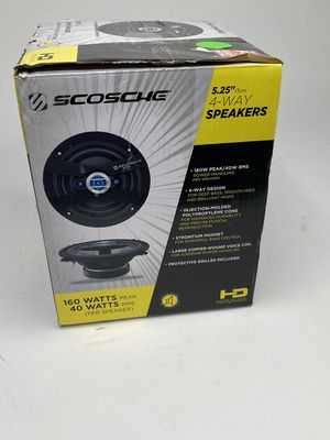 Scosche Hd5254sd 5.25 Inch 4-Way Car Stereo Speakers (Pair) for Sale in Orlando, FL