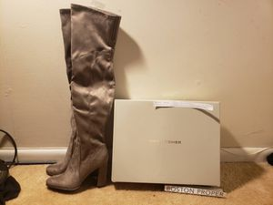 Marc Fisher Over the Knee Boots - Taupe Suede 7.5 (Brand New) for Sale in Willow Spring, NC