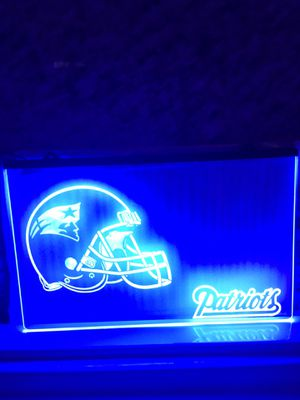 Patriots LED light patriots sign patriots Neon signs patriots nightlight patriots jacket patriots jersey patriots beanie patriots flag patriots Bottl for Sale in Santa Fe Springs, CA