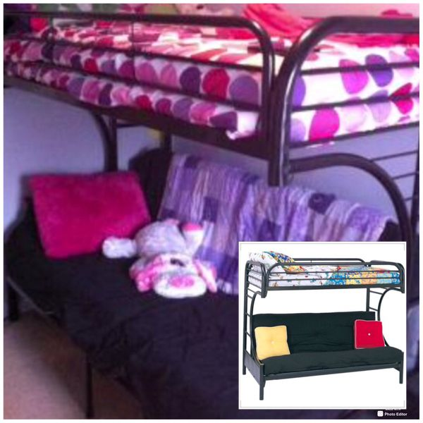 New!! Twin Over Futon Bunk Bed, Bedroom, Bed, Furniture,Bunk Bed,Twin Bed,Full Futon,Kids Room