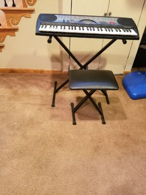 Keyboard and chair for Sale in University Park, MD
