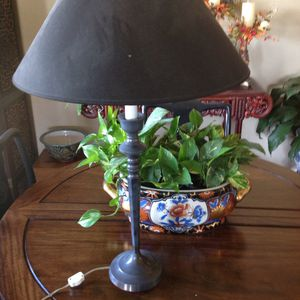 Two dark pewter tall lamps for Sale in Gig Harbor, WA