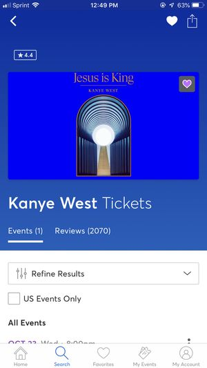 4 Kanye West Tickets Oct 23 Inglewood, CA for Sale in Los Angeles, CA