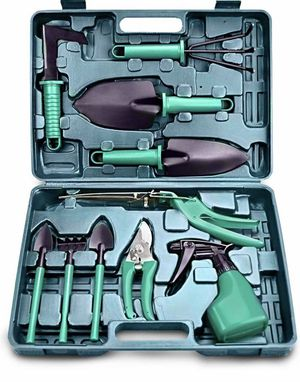 Gardening Tools Set - Gardening Gifts for Women, 10 Pieces Garden Tools, Ergonomic Non Slip Handle Including Shovel Sprayer Rake Weeder Trowel, Garde for Sale in Springfield, VA