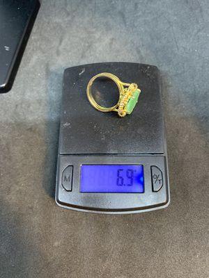 old14kgold jadeite ring 6.9g for Sale in Pomona, CA