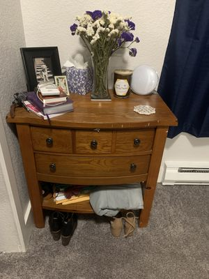Wooden Nightstand and Dresser for Sale in Ruston, WA