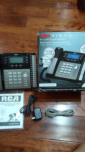 RCA Visys 25425RE1 4-line expandable business speakerphone - Excellent Condition for Sale in Los Angeles, CA