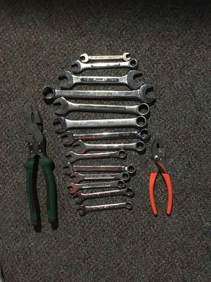 Assorted wrenches and 2 pliers for Sale in Saugus, MA