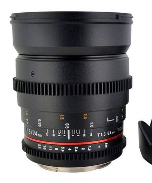 Rokinon 24mm T/1.5 Cine Wide Angle Lens Panasonic Lumix Cameras for Sale in Hurst, TX