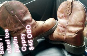 Justin steel toe womens size 7 like new for Sale in Rolla, MO