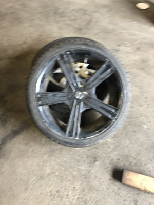 Black rims 20 inch for Sale in Brooklyn Park, MD
