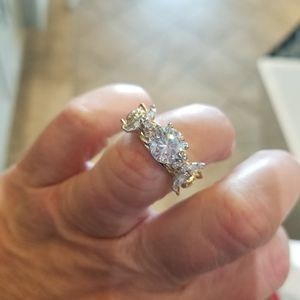 Tiffany sterling ring white sapphire w cz accents sz 7 for Sale in Indianapolis, IN