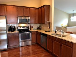 New all wood kitchen cabinets with granite countertops and financing available. for Sale in Chelmsford, MA