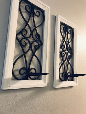 Two Matching Wall Candle Sconces- Beautiful for Sale in Hendersonville, TN