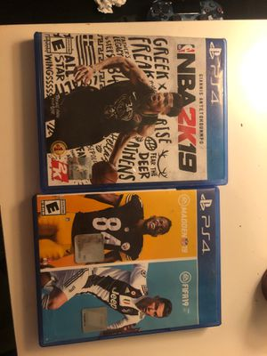 Fifa 19/ MADDEN 19 2in 1 and NBA 2k19 for Sale in Seattle, WA