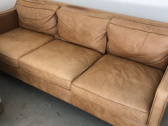 "West Elm - Hamilton Leather Sofa 91"" for Sale in Glendale,  CA"