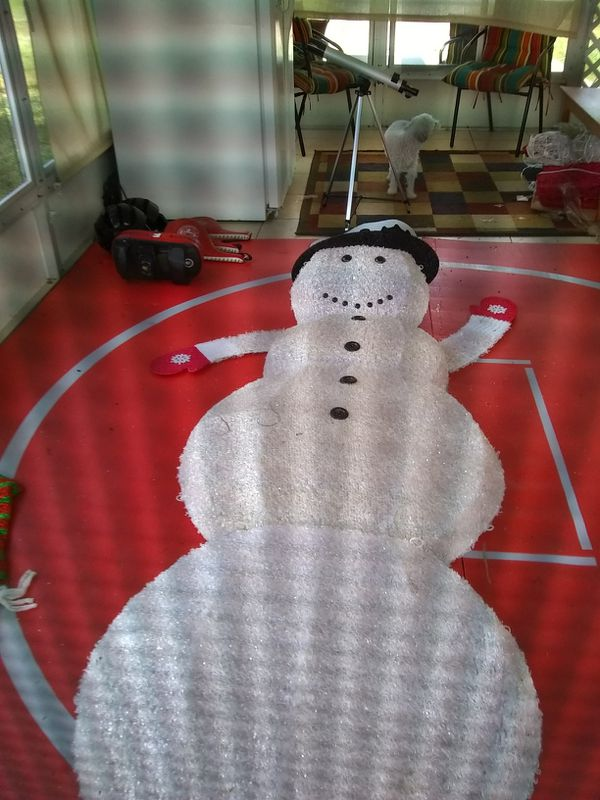 8 to 10ft light up snowman Deco for front yard at Christmas