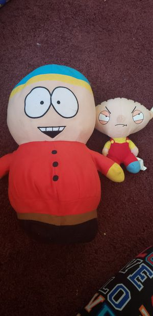 Cartman and stewie plushies for Sale in Whittier, CA