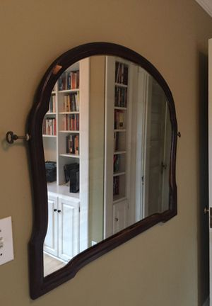 Antique wood border mirror from a dresser approximately 3 x 3' circa 1930 for Sale in Seattle, WA