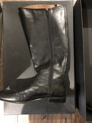 Black leather boots for Sale in Elkridge, MD