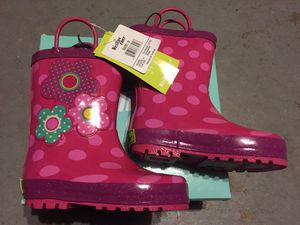 NEW! Toddler Girls Size 9 Rain Boots for Sale in Everett, WA
